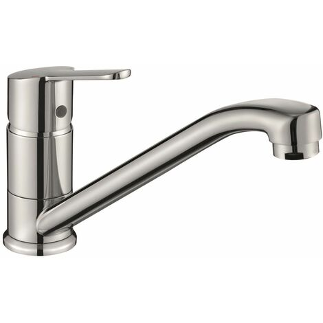 Reginox Dania Single Lever Modern Kitchen Sink Mixer Tap Chrome Swivel Spout
