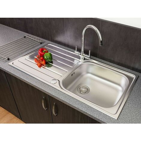 Reginox Daytona Inset Kitchen Sink Stainless 1 Bowl Reversible