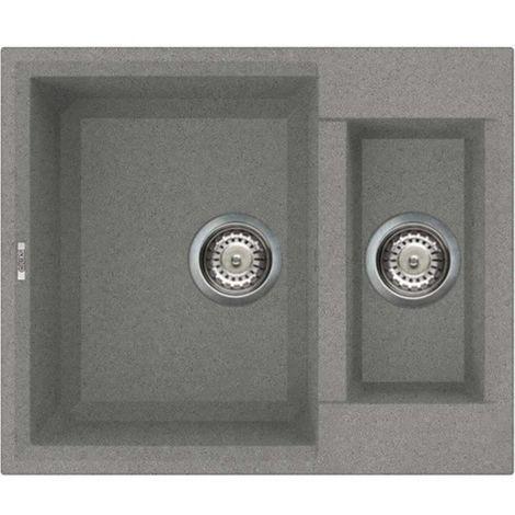 Reginox Easy 150 Granite Titanium Single & Half Bowl Reversible Sink