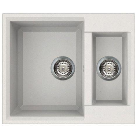Reginox Easy 150 Granite White Single & Half Bowl Reverisble Sink
