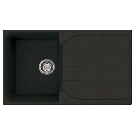Reginox Ego 400 Granite Black Single Reversible Sink