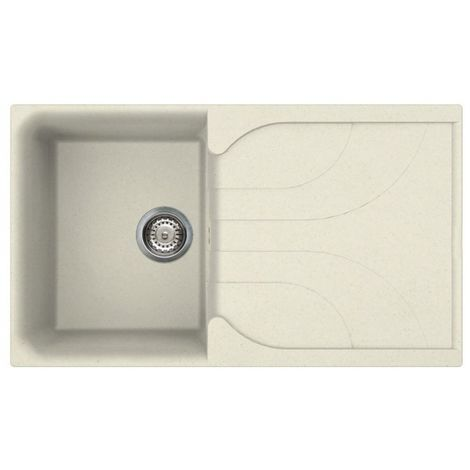 Reginox Ego 400 Granite Cream Single Reversible Sink
