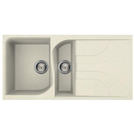 Reginox Ego 475 Granite Cream Single & Half Bowl Reversible Drainer Sink