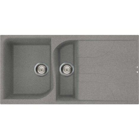 Reginox Ego 475 Granite Titainum Single & Half Bowl Reversible Drainer Sink