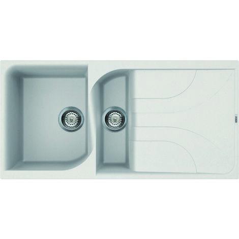 Reginox Ego 475 Granite White Single & Half Bowl Reversible Drainer Sink