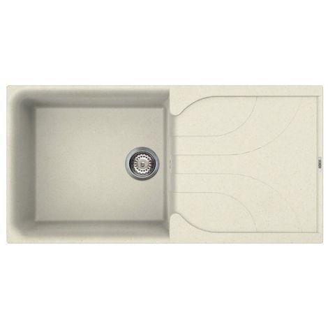 Reginox Ego 480 Granite Cream Single Bowl Reversible Drainer Sink