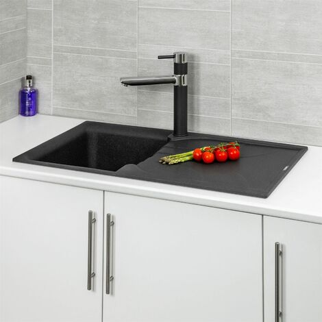 Reginox EGO400 Black Granite Single Bowl Sink with Waste Included