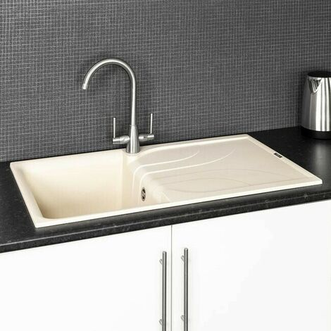 Reginox EGO400 Cream Granite Single Bowl Sink with Waste Included