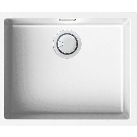 """main image of """"Reginox Elleci Multa105 Kitchen Sink Single Bowl Undermount White Granite Waste"""""""