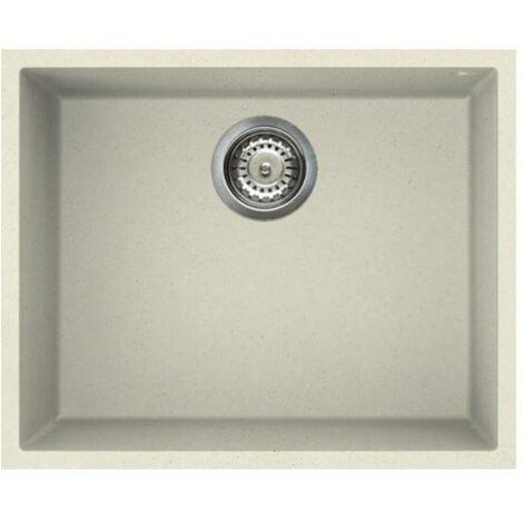 "main image of ""Reginox Elleci Quadra105 Kitchen Sink 1.0 Bowl Cream Granite Undermount Waste """