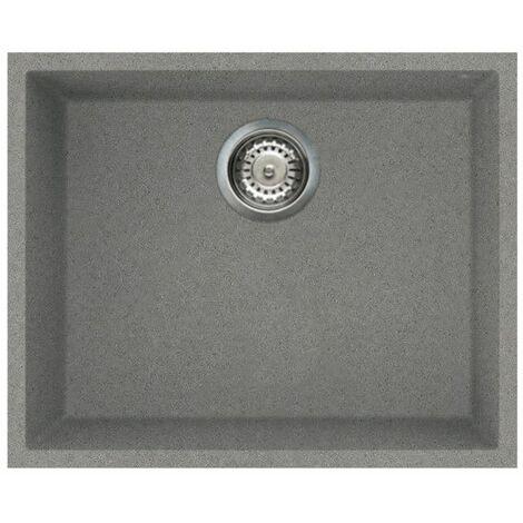 "main image of ""Reginox Elleci Quadra105 Kitchen Sink Single Bowl Grey Granite Undermount Waste"""
