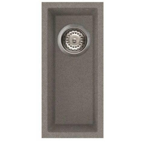 """main image of """"Reginox Elleci Quadra50 Kitchen Sink 0.5 Half Bowl Grey Granite Undermount Waste"""""""