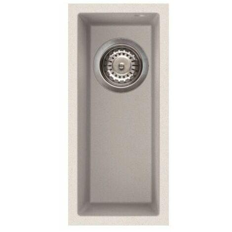 """main image of """"Reginox Elleci Quadra50 Kitchen Sink Half Bowl White Granite Undermount Waste"""""""