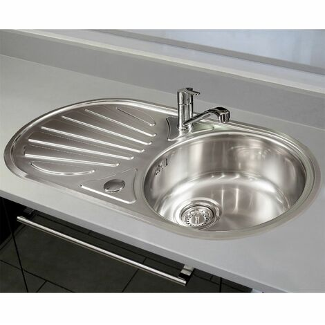 Reginox Galicia Round Kitchen Sink Stainless 1 Bowl Reversible