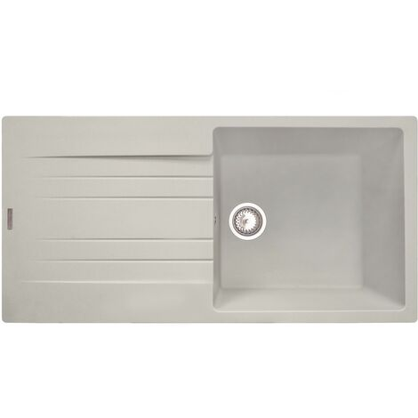 "main image of ""Reginox Hampton Kitchen Sink Sinks Inset Single Bowl Drainer Granite Waste Cream"""