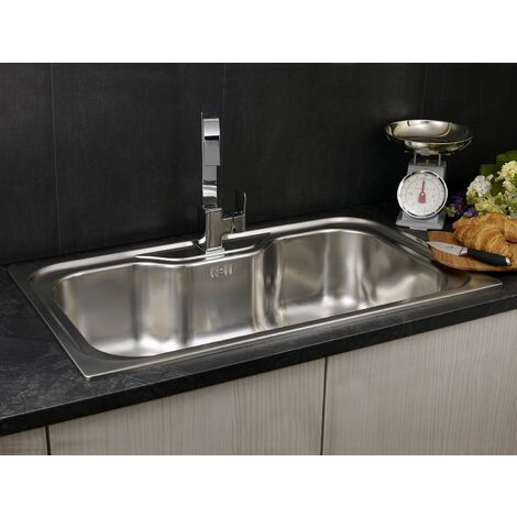 Reginox Jumbo Inset Kitchen Sink Stainless Steel Single Bowl
