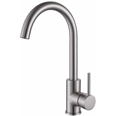 Reginox Kalix Kitchen Sink Tap Swivel Spout Mixer Hot Taps Single Lever Brushed