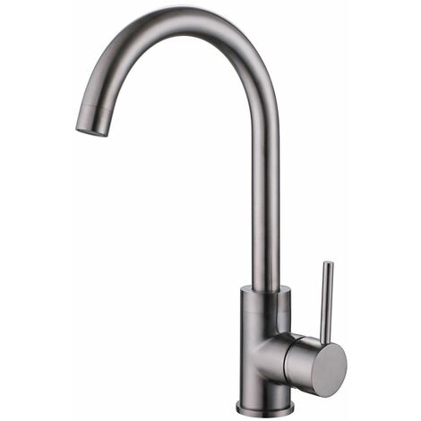 Reginox Kalix Kitchen Sink Tap Swivel Spout Mixer Hot Taps Single Lever Gunmetal