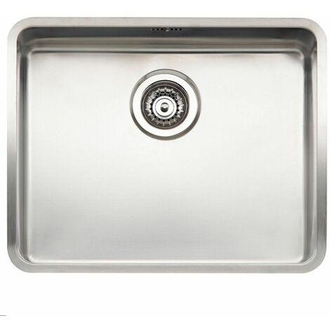 Reginox Kansas Kitchen Sink Single Bowl Stainless Steel Basket Waste 50 x 40
