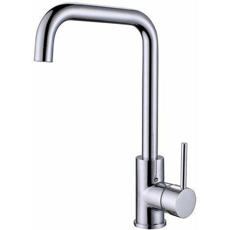 "main image of ""Reginox Kubina Kitchen Sink Tap Swivel Spout Mixer Hot Taps Single Lever Chrome"""