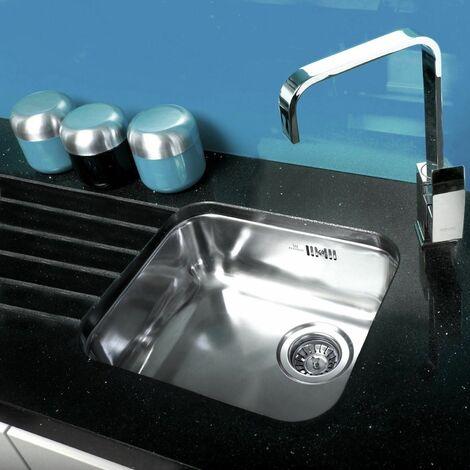 Reginox L18 4035 Single Bowl Kitchen Sink Integrated Stainless Steel Waste