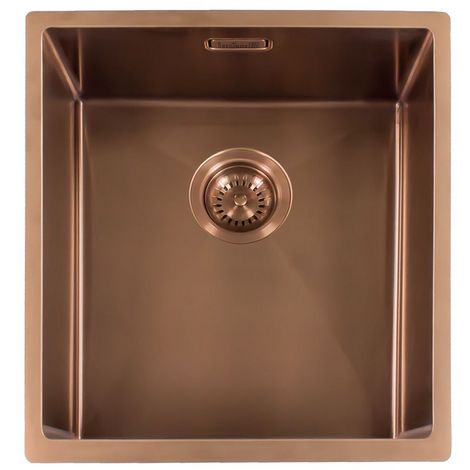 Reginox Miami Stainless Steel Single Bowl Copper Kitchen Sink