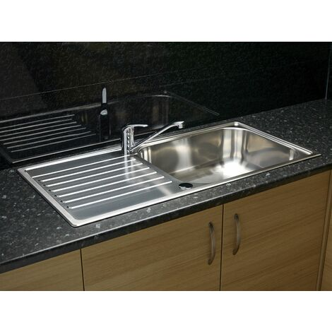 Reginox Minister Inset Kitchen Sink Stainless 1 Bowl Reversible