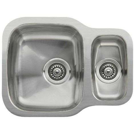 Reginox Nebraska 1.5 Bowl Kitchen Sink Undermount Stainless Steel Waste Durable