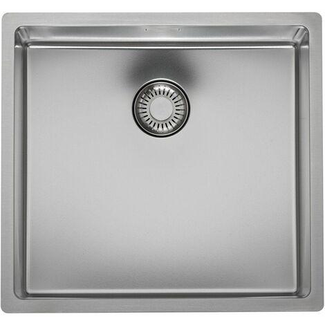 Reginox New Jersey Kitchen Sink Stainless Steel Single Bowl Strainer Waste 40x37