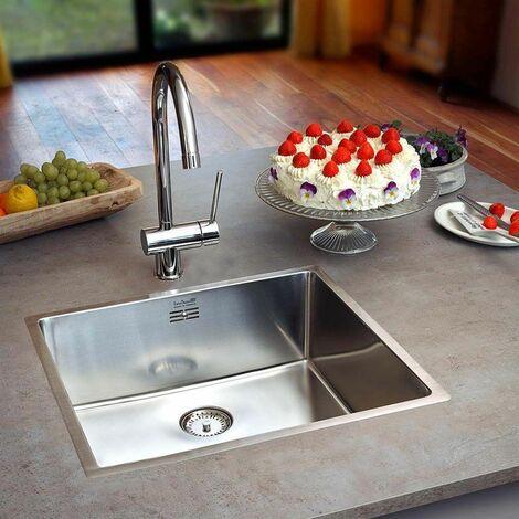 Reginox New York SS Single Bowl Kitchen Sink Integral Waste 50x40