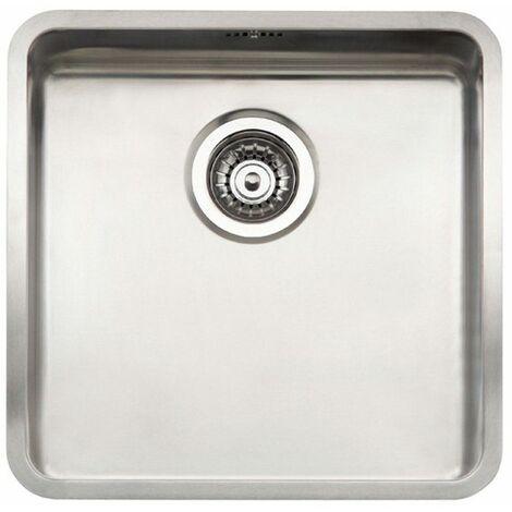 Reginox Ohio Single Bowl Kitchen Sink Stainless Steel Waste Overflow