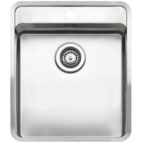 Reginox Ohio Single Bowl Kitchen Sink Tapwing Stainless Steel Waste