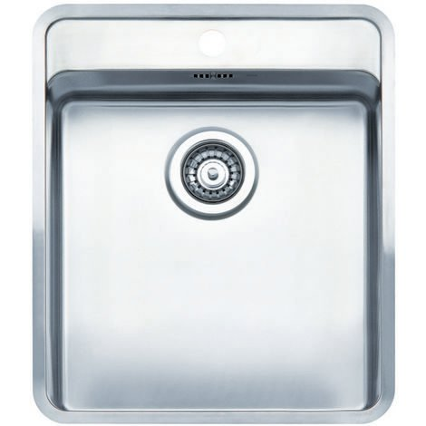 Reginox Ohio Square Stainless Steel Integrated Kitchen Sink with Tap Wing