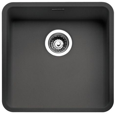 Reginox Ohio Stainless Steel Black Single Bowl Sink