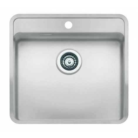 Reginox Ohio Tap Wing Stainless Steel Single Bowl Integrated Sink White Finish