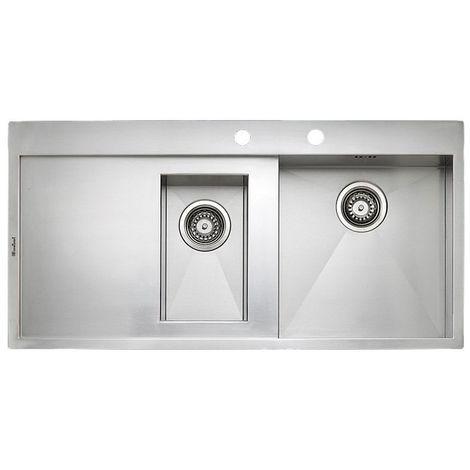 Reginox Ontario L1.5-LHD Stainless Steel 1.5 Bowl Integrated Kitchen Sink