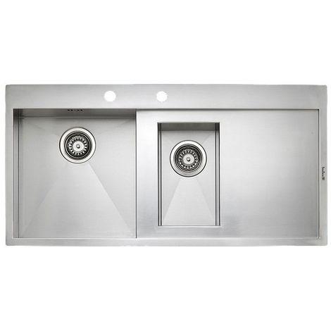 Reginox Ontario L1.5-RHD Stainless Steel 1.5 Bowl Integrated Kitchen Sink