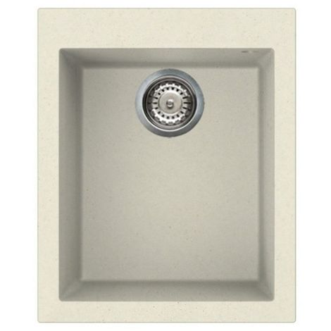 Reginox Quadra 100 Granite Cream Single Bowl Undermount Sink