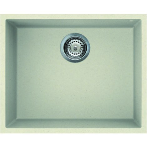 Reginox Quadra 105 Granite Cream Single Bowl Undermount Sink