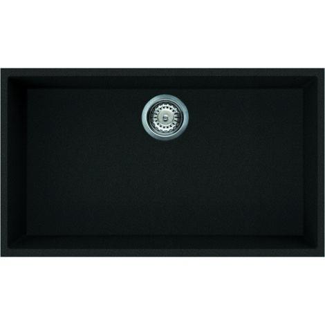 Reginox Quadra 130 Granite Black Single Bowl Undermount Sink