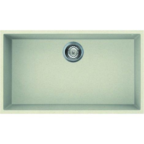Reginox Quadra 130 Granite Cream Single Bowl Undermount Sink