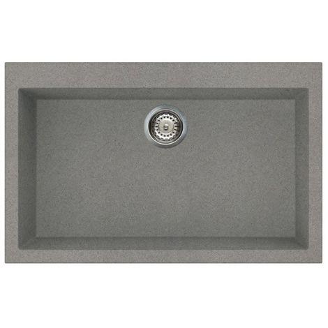 Reginox Quadra 130 Granite Titanium Single Bowl Undermount Sink
