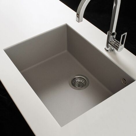Reginox Quadra105 Granite Undermount 1 Bowl Kitchen Sink Grey