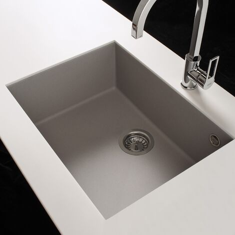 Reginox Quadra105 Granite Undermount 1 Bowl Kitchen Sink White
