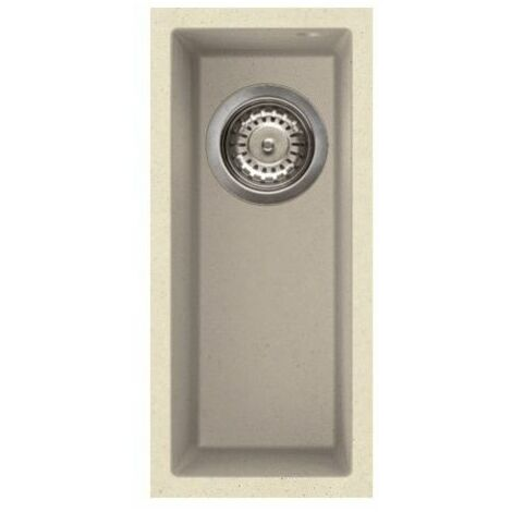 Reginox Quadra50 Half Bowl Kitchen Sink Undermount Cream Granite