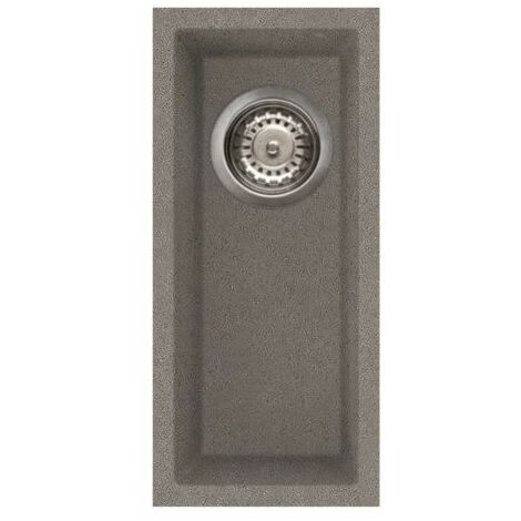 Reginox Quadra50 Half Bowl Kitchen Sink Undermount Grey Granite