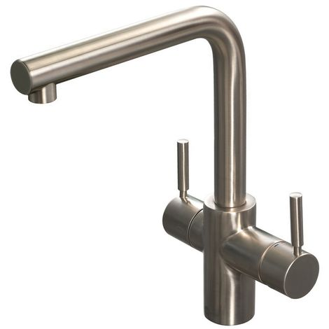 Reginox R3N1 Hot Tap Brushed Steel Kitchen Mixer Tap