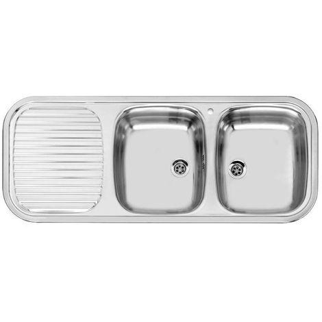 Reginox Regent 30 Lux Left Hand Stainless Steel 2 Bowl Kitchen Inset Sink