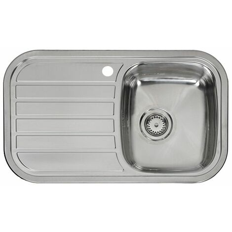Reginox Regent Single Bowl Kitchen Sink Stainless Steel Left Hand Inset