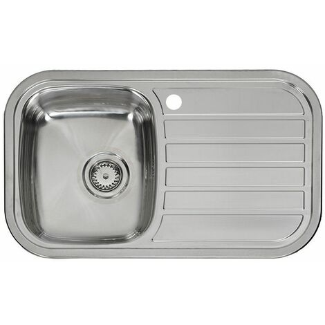 Reginox Regent Single Bowl Kitchen Sink Stainless Steel Right Hand Inset